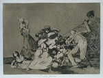 193-0082186 And they are like wild beasts, plate 5 of 'The Disasters of War', 1810-14, pub. 1863 Wall Art & Canvas Prints by Francisco Jose de Goya y Lucientes