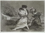 193-0082190 They don't like it, plate 9 of 'The Disasters of War', 1810-14, pub. 1863 Wall Art & Canvas Prints by Francisco Jose de Goya y Lucientes