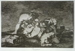 Neither do they, plate 10 of 'The Disasters of War', 1810-14, pub. 1863 Fine Art Print by Francisco Jose de Goya y Lucientes
