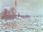 The Ice Breaking Up, 1880 Postcards, Greetings Cards, Art Prints, Canvas, Framed Pictures, T-shirts & Wall Art by Claude Monet