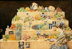 Fruit-stall, La Lagunilla, 1998 Fine Art Print by James Reeve