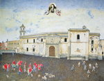 Political Protest, the Cloister of Sor Juana de la Cruz Fine Art Print by Hilary Rosen