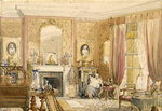 Drawing Room at Bryn Glas, Monmouthshire, 1871 Postcards, Greetings Cards, Art Prints, Canvas, Framed Pictures, T-shirts & Wall Art by Martin Decent