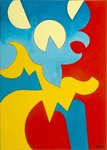 Blue-Yellow-Red, 2009 Wall Art & Canvas Prints by Kan'en Iwasaki