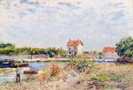 The Loing at Saint-Mammes, 1885 Wall Art & Canvas Prints by Alfred Sisley