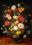 Still life with flowers and strawberries Poster Art Print by Jan Brueghel