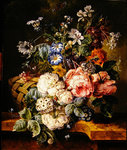 Still life with flowers, 1813 Wall Art & Canvas Prints by Albert Williams