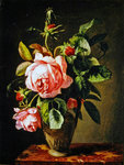 Still life with Roses, 1843 Fine Art Print by James Gillick