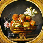 Still life with peaches Fine Art Print by Cornelis van Spaendonck