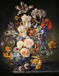 Still life with flowers Fine Art Print by Johann Baptist Drechsler