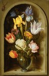 Still life with flowers and insects Wall Art & Canvas Prints by Gasparo Lopez