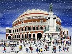 Royal Albert Hall, London (w/c on paper) Postcards, Greetings Cards, Art Prints, Canvas, Framed Pictures, T-shirts & Wall Art by Dirk Maes
