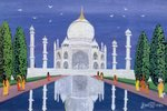 Taj Mahal, 1995 (w/c) Wall Art & Canvas Prints by English School