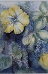 Hibiscus, yellow Postcards, Greetings Cards, Art Prints, Canvas, Framed Pictures, T-shirts & Wall Art by Ignace Henri Jean Fantin-Latour