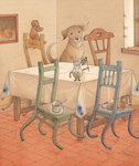 Chair Race, 2005 Fine Art Print by Kestutis Kasparavicius