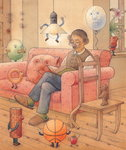Crowd, 2005 Fine Art Print by Kestutis Kasparavicius
