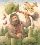 Giant, 2006 (w/c on paper) Wall Art & Canvas Prints by Kestutis Kasparavicius