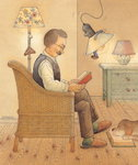 Lamp, 2005 (w/c on paper) Wall Art & Canvas Prints by Kestutis Kasparavicius