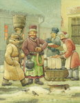 Russian Scene 07, 1994 (w/c on paper) Wall Art & Canvas Prints by Kestutis Kasparavicius