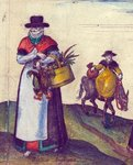 Country folk going to market, 1582 Postcards, Greetings Cards, Art Prints, Canvas, Framed Pictures, T-shirts & Wall Art by Joris Hoefnagel
