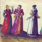 English women of the Elizabethan era, 1582 Fine Art Print by Joris Hoefnagel
