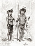 Native Indians from Rio Branco, South America (engraving) Postcards, Greetings Cards, Art Prints, Canvas, Framed Pictures, T-shirts & Wall Art by Vicente Alban