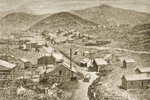 Silver City, Nevada, c.1870, from 'American Pictures', published by The Religious Tract Society, 1876 (engraving)
