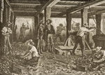 Silver Mining in Nevada, c.1870, from 'American Pictures', published by The Religious Tract Society, 1876 Fine Art Print by English School