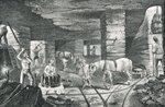 English Coal Mine from 'Cyclopaedia of Useful Arts & Manufactures', edited by Charles Tomlinson, c.1880s (engraving) Wall Art & Canvas Prints by English School