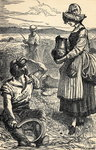 Field Workers Reaping (engraving) Fine Art Print by Antoine Charles Horace Vernet