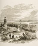 Sandy Hook New Jersey, seen from the lighthouse in the 1870s, c.1880 (litho) Postcards, Greetings Cards, Art Prints, Canvas, Framed Pictures, T-shirts & Wall Art by English School