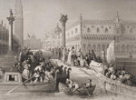 Embarkation of the Doge, Venice, engraved by Challis (litho) Wall Art & Canvas Prints by William James