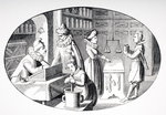 Shop of a Grocer and Druggist in the 17th century, from 'Le Moyen Age et La Renaissance' by Paul Lacroix (1806-84) published 1847 (litho) Wall Art & Canvas Prints by Thomas Rowlandson