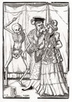 Death comes to the Duchess, engraved by Georg Scharffenberg, from 'Der Todten Tanz', published Basel, 1843 (litho) Fine Art Print by Hans Holbein The Younger