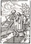 Death comes to the Old Man, or the Hermit, from 'Der Todten Tanz', published Basel, 1843 (litho) Wall Art & Canvas Prints by Hans Holbein The Younger