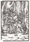 Death comes for the Robber, from 'Der Todten Tanz', published Basel, 1843 (litho) Fine Art Print by Hans Holbein The Younger