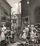 Times of the Day: Noon, from 'The Works of William Hogarth', published 1833 (litho) Postcards, Greetings Cards, Art Prints, Canvas, Framed Pictures, T-shirts & Wall Art by William Hogarth