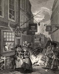 Times of the Day: Night, from 'The Works of William Hogarth', published 1833 Fine Art Print by William Hogarth