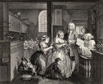 Married to an Old Maid, plate V from 'A Rake's Progress', from 'The Works of William Hogarth', published 1833 (litho)