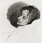 John Keats in his Last Illness, from 'The Century Illustrated Monthly Magazine', May to October, 1883 (engraving)