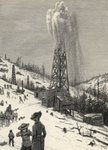 Shooting an Oil Well, from 'The Century Illustrated Monthly Magazine', May to October, 1883 (litho) Wall Art & Canvas Prints by Reverend Samuel Manning