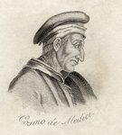 Cosimo de Medici, from 'Crabb's Historical Dictionary', published 1825 Fine Art Print by French School