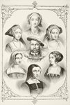 King Henry VIII of England and his six wives, from 'The National and Domestic History of England' by William Hickman Smith Aubrey Fine Art Print by Joris Hoefnagel