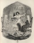 The Black Mousquetaire, from 'The Ingoldsby Legends' by Thomas Ingoldsby, published by Richard Bentley & Son, 1887 (litho) Fine Art Print by George Cruikshank