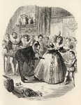 The Housewarming, from 'The Ingoldsby Legends' by Thomas Ingoldsby, published by Richard Bentley & Son, 1887 (litho) Fine Art Print by George Cruikshank