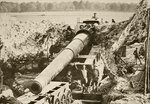 An American 14 inch canon in position on the Western Front, from 'L'Illustration', 1918 Fine Art Print by English Photographer