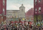 The execution of Robert Emmet on 20th September, 1803 (colour litho) Wall Art & Canvas Prints by Armand de Polignac