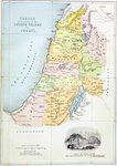 Canaan as it was divided between the twelve tribes of Israel Fine Art Print by Guillaume Delisle