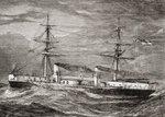 HMS Inflexible, Invincible Class Battlecruiser of the British Royal Navy, illustration from 'Our Own Magazine', published by the Children's Special Service Mission, 1885 Fine Art Print by Richard Willis