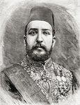 HH Muhammad Tewfik Pasha, Tawfik of Egypt, 1890 (wood engraving) Wall Art & Canvas Prints by Thomas Hicks